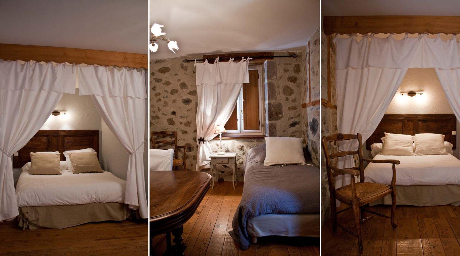 """Chambre """"Percheronne"""" Auberge du Puy Mary Auberge AIJEAN dans le cantal"""